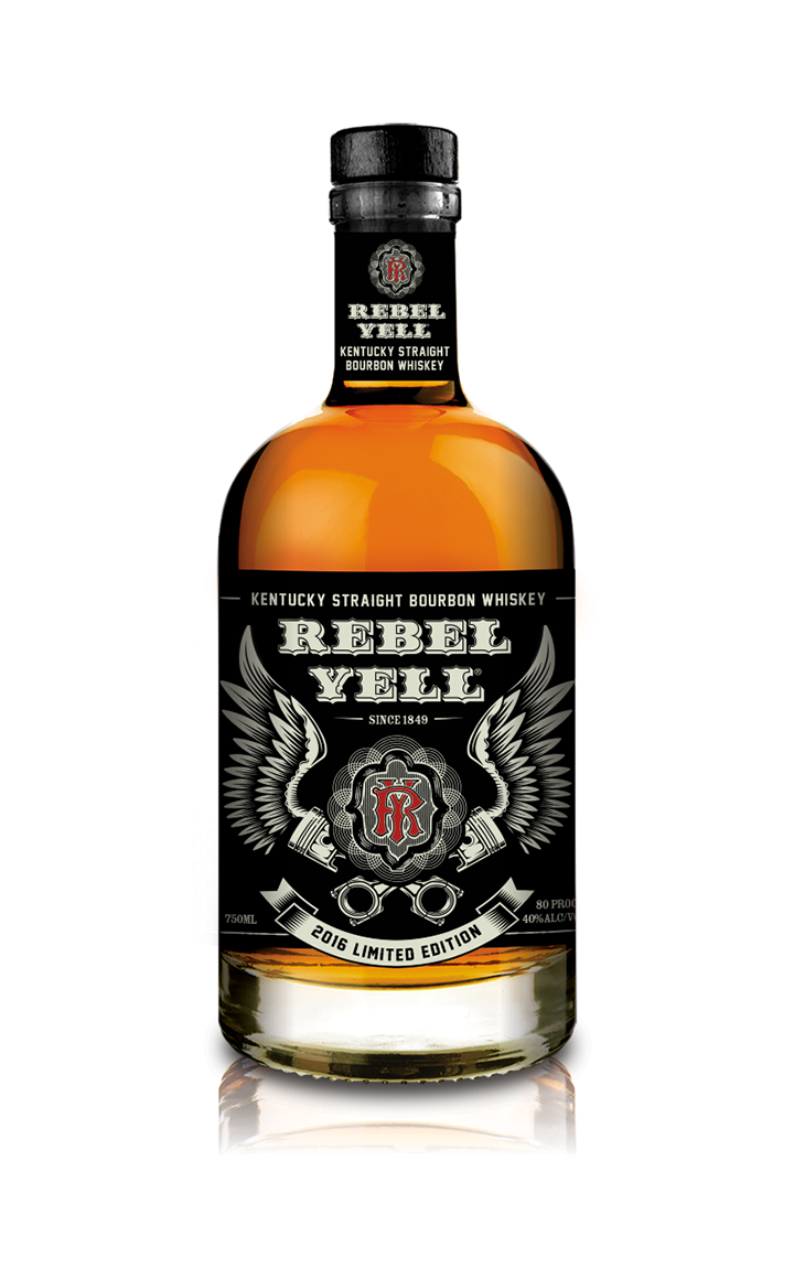 2016 Limited Edition Rebel Yell Kentucky Straight Bourbon Whiskey packaging, designed by  Cfx, Inc.  exclusively for  Sturgis Motorcycle Rally 2016