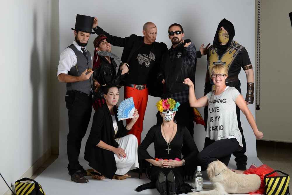 The Cfx team stirring up some trouble during our annual Halloween photo shoot.