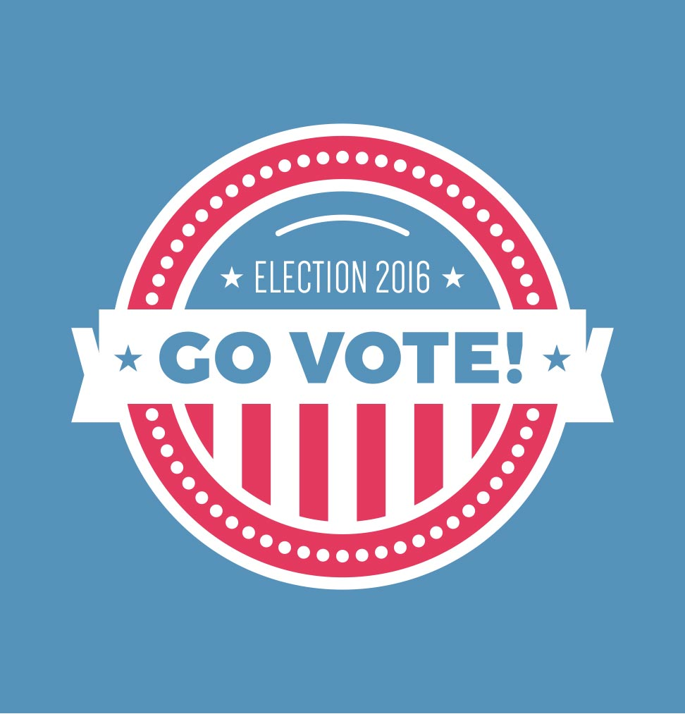 November 8, 2016 is General Election Day! Get out and vote!