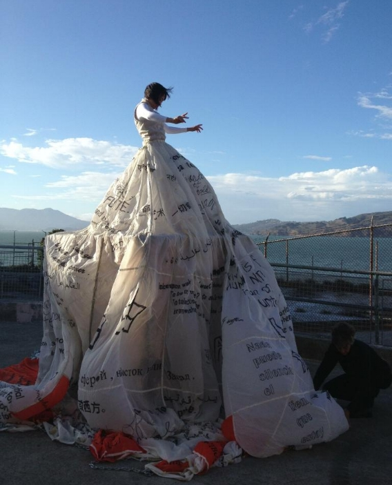ODC Dance for the premiere of  @Large: Ai WeiWei on Alcatraz , photo by Jamielyn Duggan