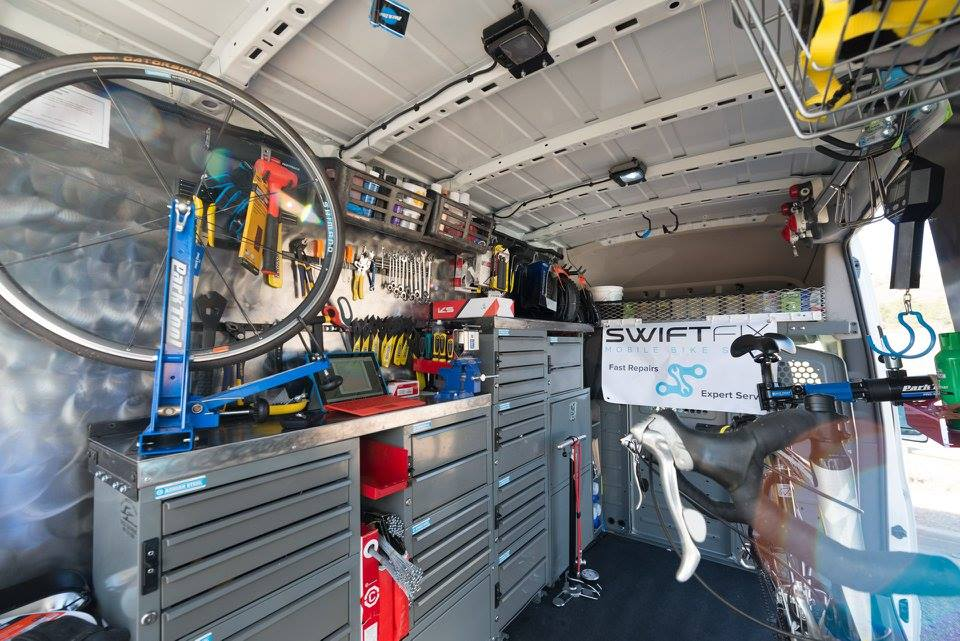 Inside look into Swift Fix Mobile Bike Shop