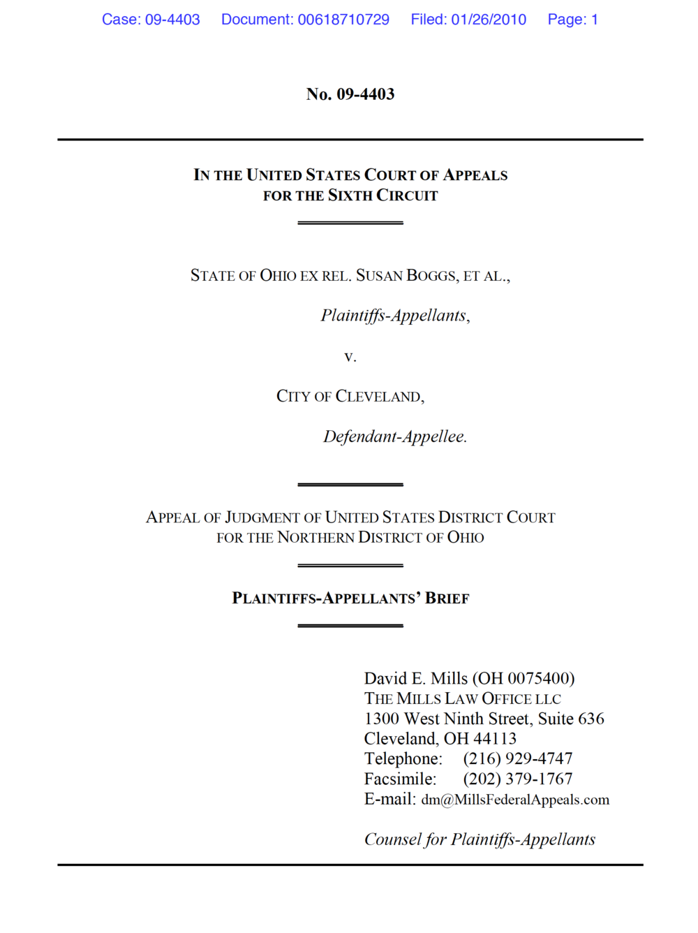 When New Facts In A Second Lawsuit Overcome The Defense Of Res My First Circuit Boards Theres Good News And Bad Scope State Ohio Ex Rel Susan Boggs Et Al V City Cleveland 655 F3d 516 6th Cir 2011 What Follows Are Excerpts Main Brief On This Point