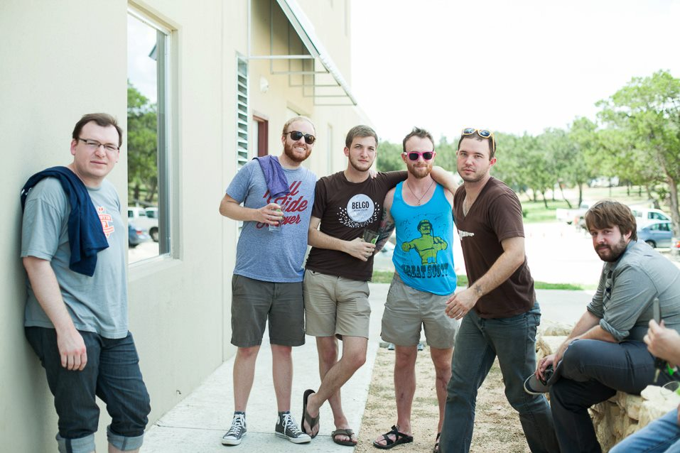 Photo from David's bachelor party in Austin, TX, August 2012. Brad is second on the right. Photography by  Daniel Meigs