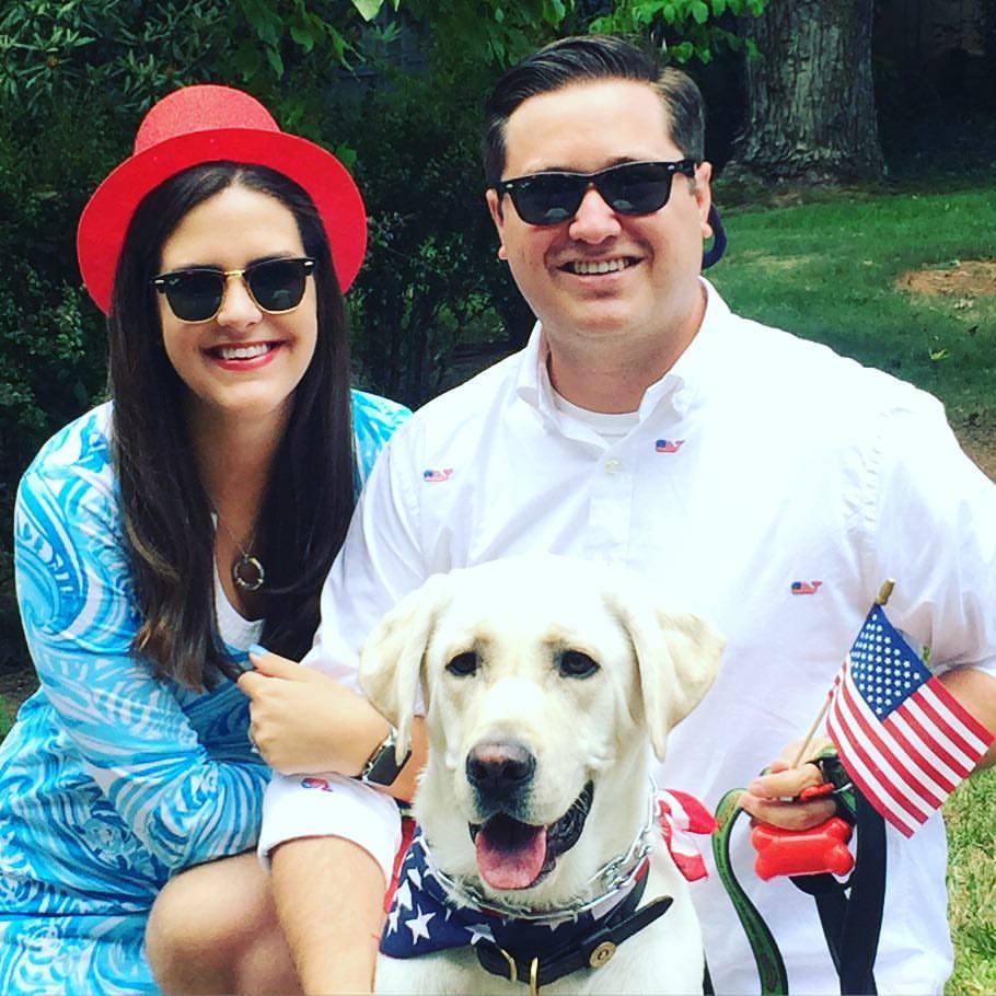Bentley, Hannah and their dog Beauregard.