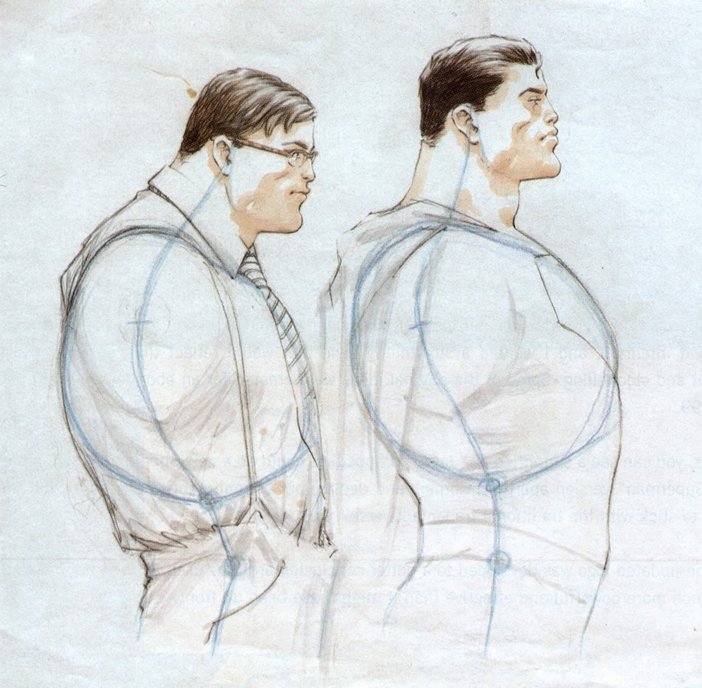 (Structural differences between Clark Kent and Superman | Frank Quitely)