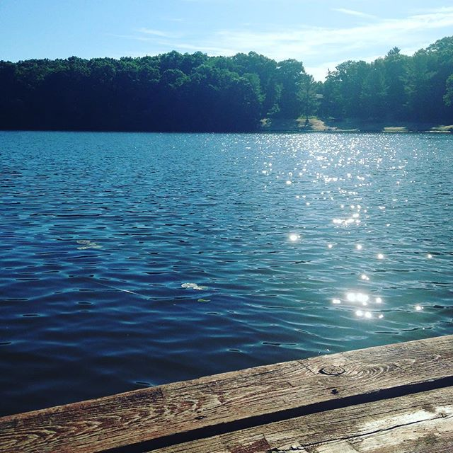Beautiful lake morning journaling on the dock. This is bliss.  #peace #getaway #relax #rejuvenate #Letgo #loveit #light #beauty #love
