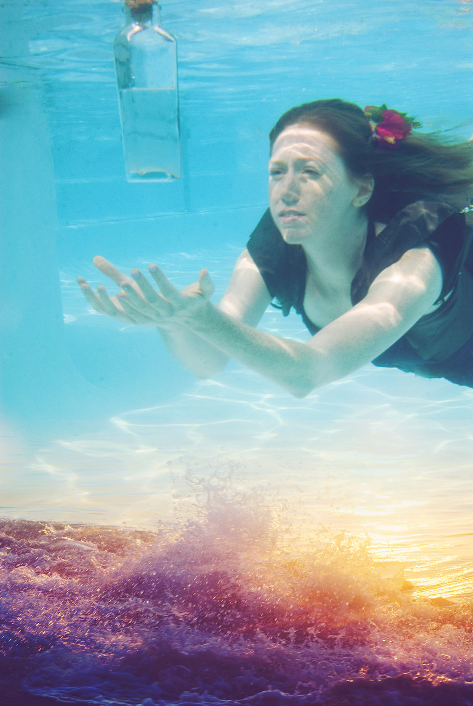 underwater photography art composite