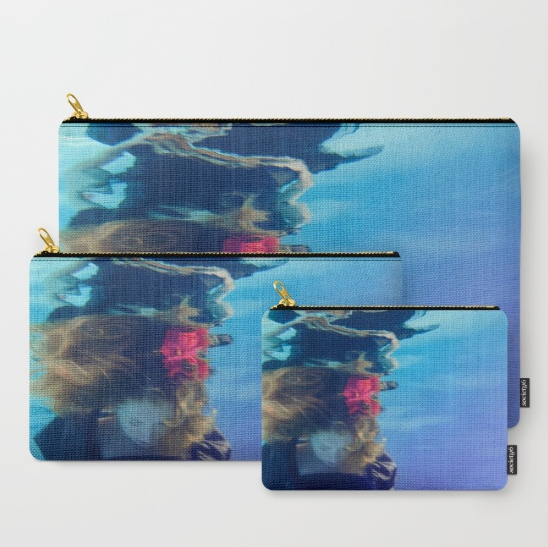 underwater art custom bag travel purse clutch