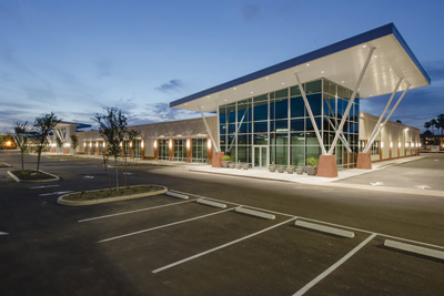 exterior shot of centrica building parking lot