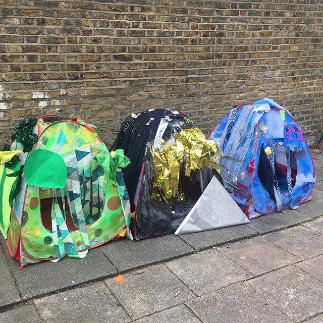 CHILL OUT! Sensory Zones. Forest - Space - Underwater Made with children and young people at the Stitches in Time Easter Playscheme in East London