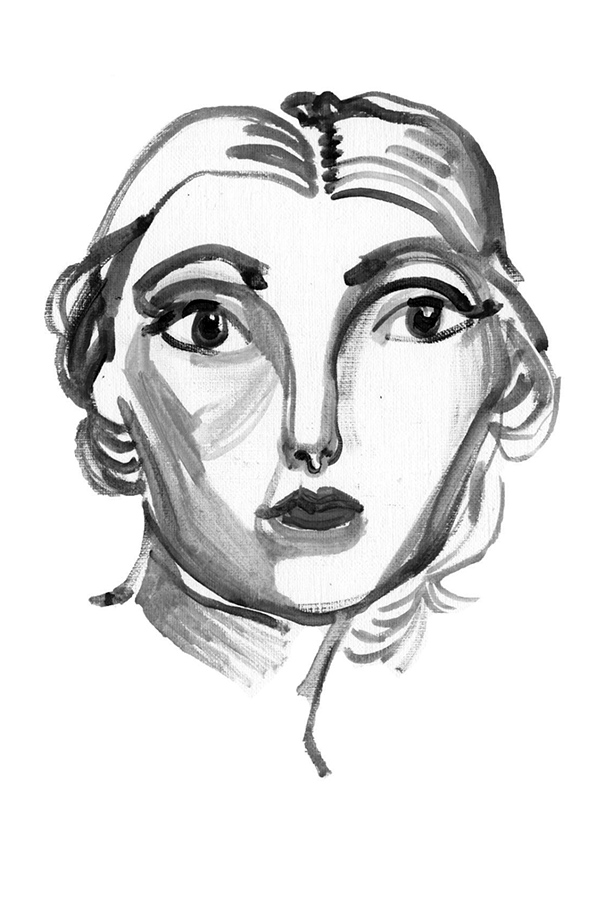 2010 Portrait, oil on paper