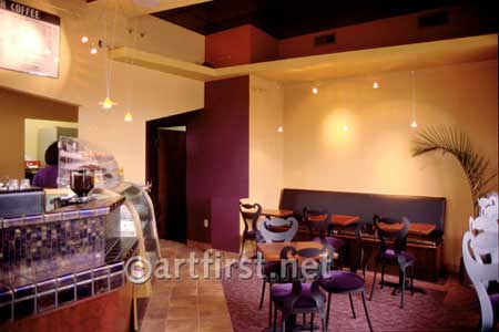 Vibrant paint colors for Coffee Shop