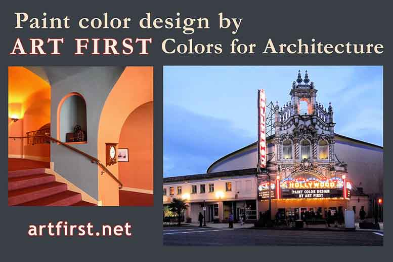 Interior and exterior custom paint colors for the Hollywood Theatre