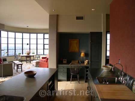 New condominium with contemporary paint color design