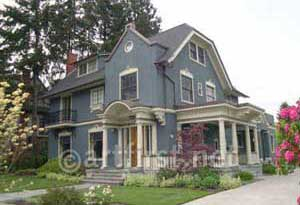 Historic Colonial built 1911 repainted in stylish exterior colors