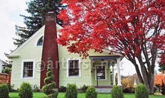 Paint colors for cottage in landscape