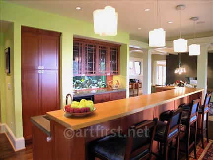 Colors for a Contemporary Craftsman kitchen
