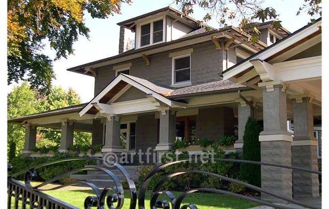 Updated paint colors for Craftsman style exterior