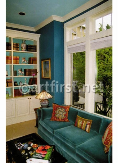 Deep pretty colors for a Library Room
