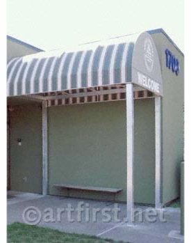 Paint colors and awning for the Multnomah County Animal Services