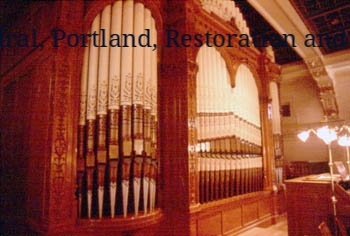 St. Mary's Cathedral, Portland, OR restoration and re-stencilling of organ pipes (with Sally Hopkins).