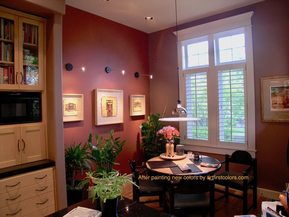 The Kitchen with bold new paint colors by Art First Colors