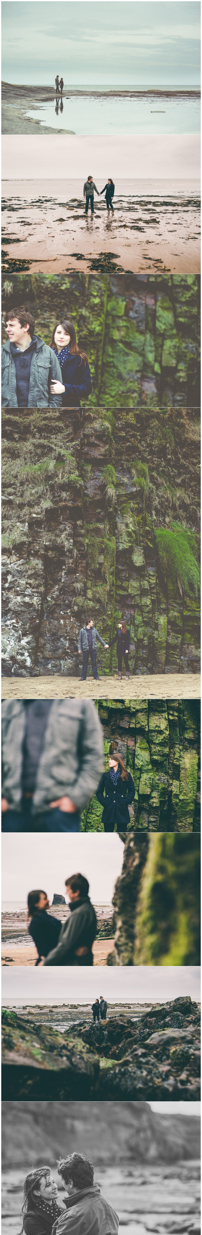 Whitby Saltwick Bay Engagement Pre-wedding shoot
