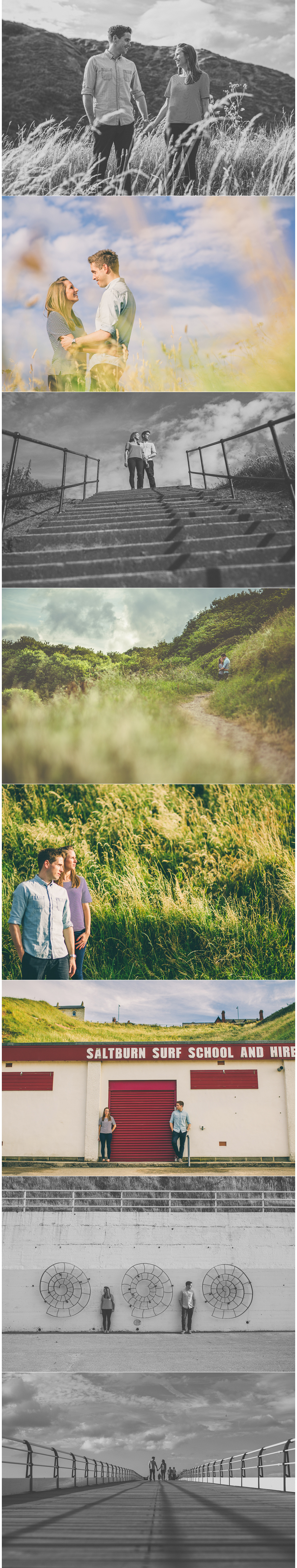 Scarborough York Yorkshire Wedding Photographer Yorkshire Engagement Pre Wedding Shoot Saltburn By The Sea Yorkshire