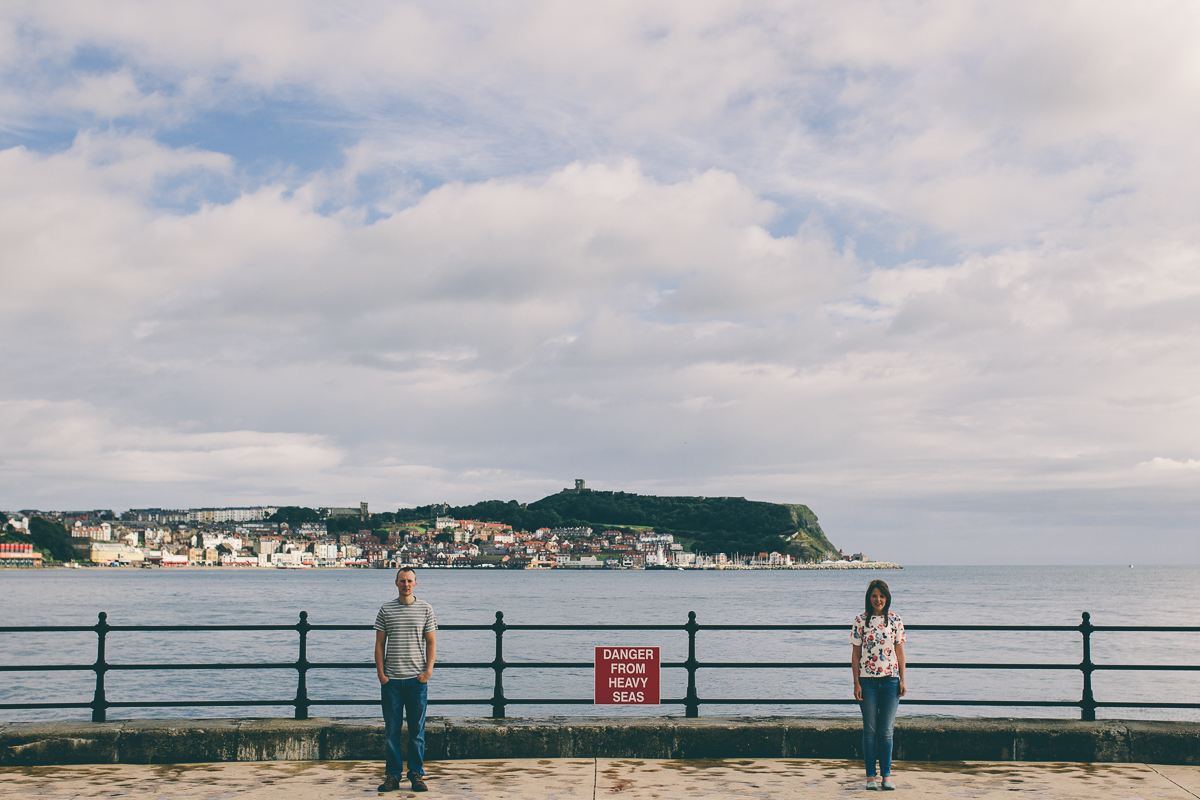 Scarborough York Yorkshire Wedding Photographer Yorkshire Engagement Pre Wedding Shoot South Cliff South Bay Scarborough Yorkshire