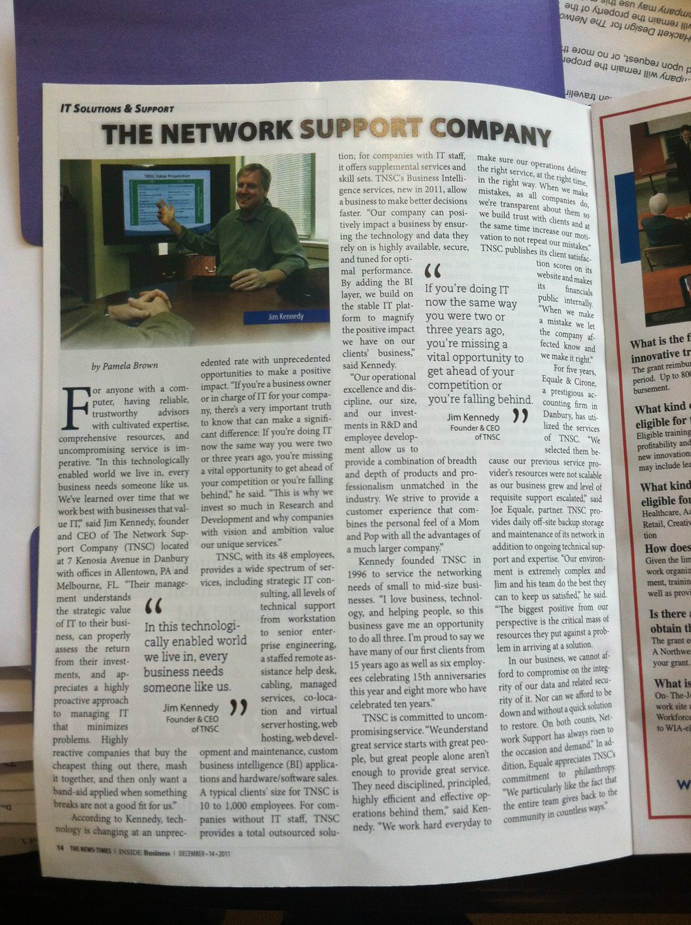 The News Times - Inside Business - 12-14-11.JPG