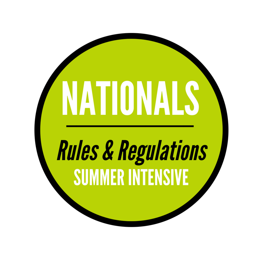 Nationals Summer Intensive Rules and Regulations
