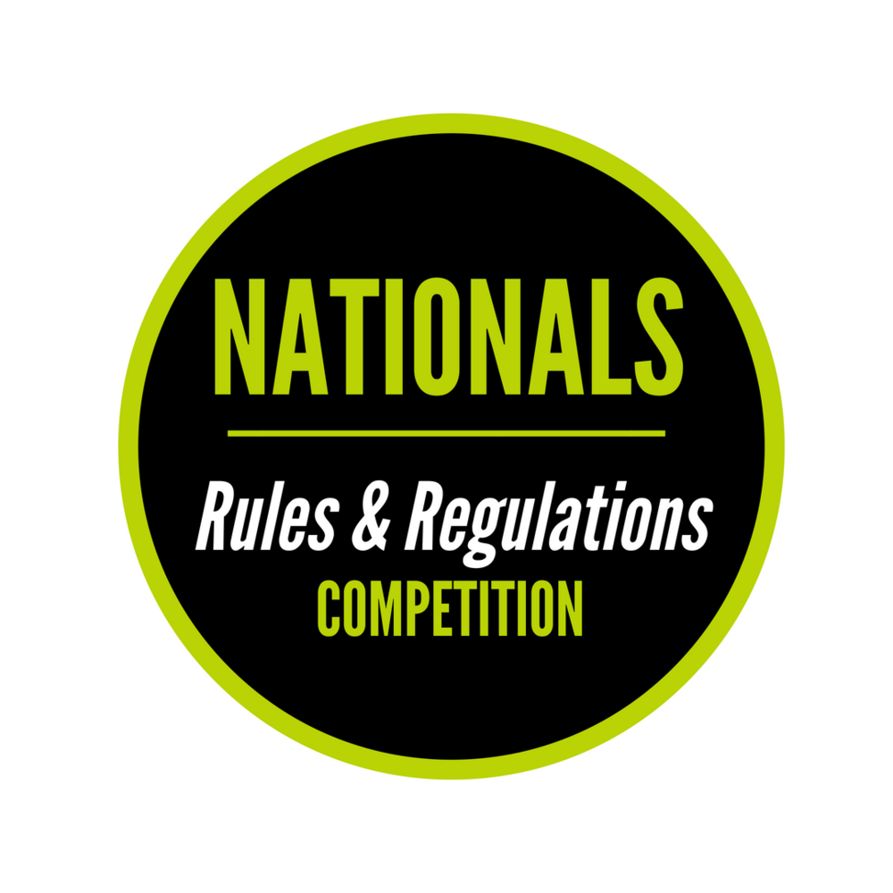 Nationals Competition Rules and Regulations