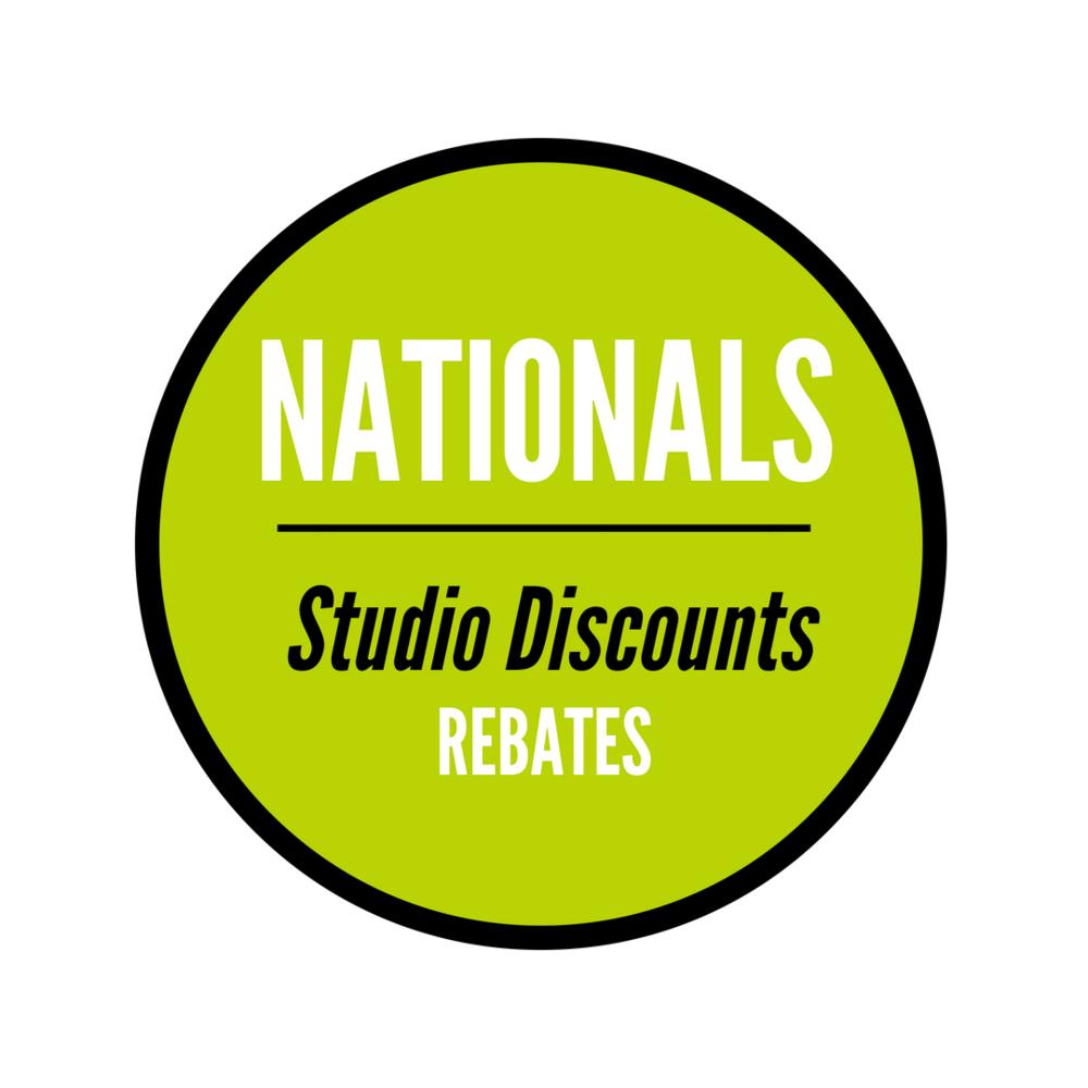 Nationals Studio Discounts