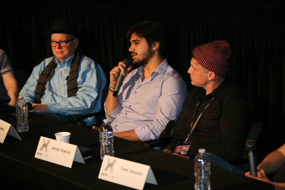 """The Bizness of X"" X-Academy panel. Photo Courtesy of Marty Oppenheimer."