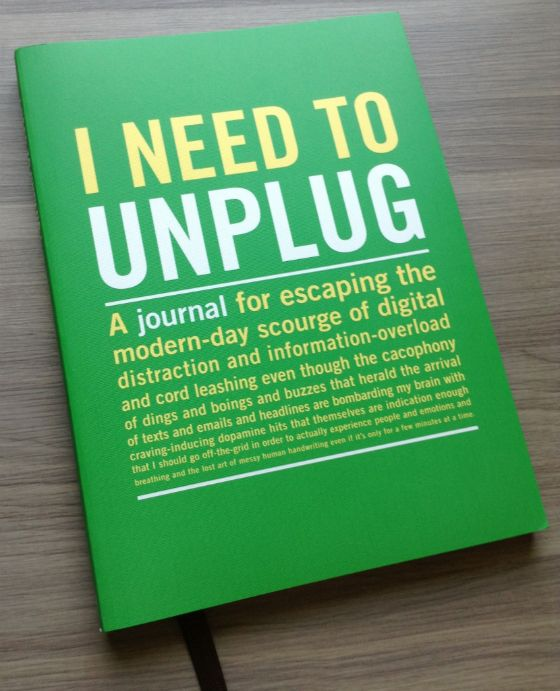 I Need To Unplug Journal by Knock Knock