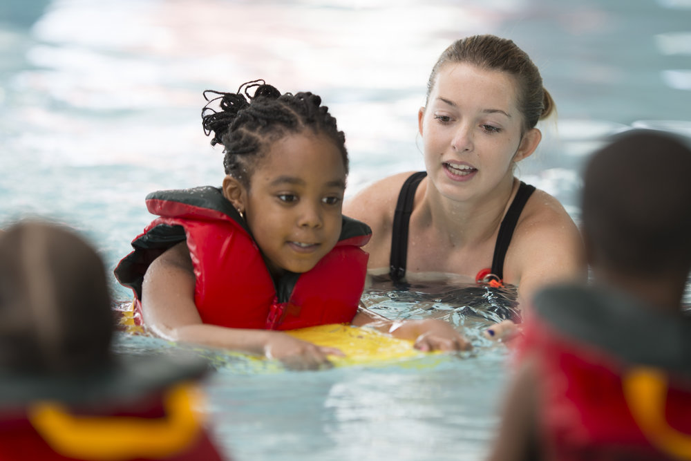 Formal swimming lessons can    reduce the risk of drowning by 88%    for children aged 1 to 4 years.   Find Swim Schools and More