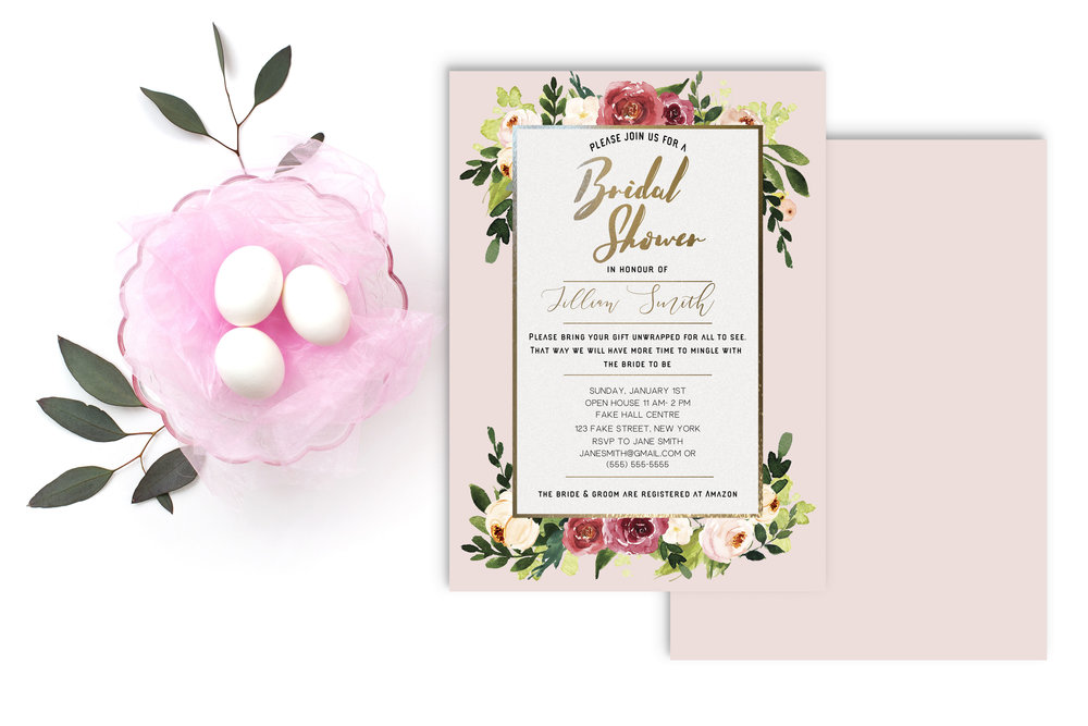 Spring Bridal Shower Invitation -