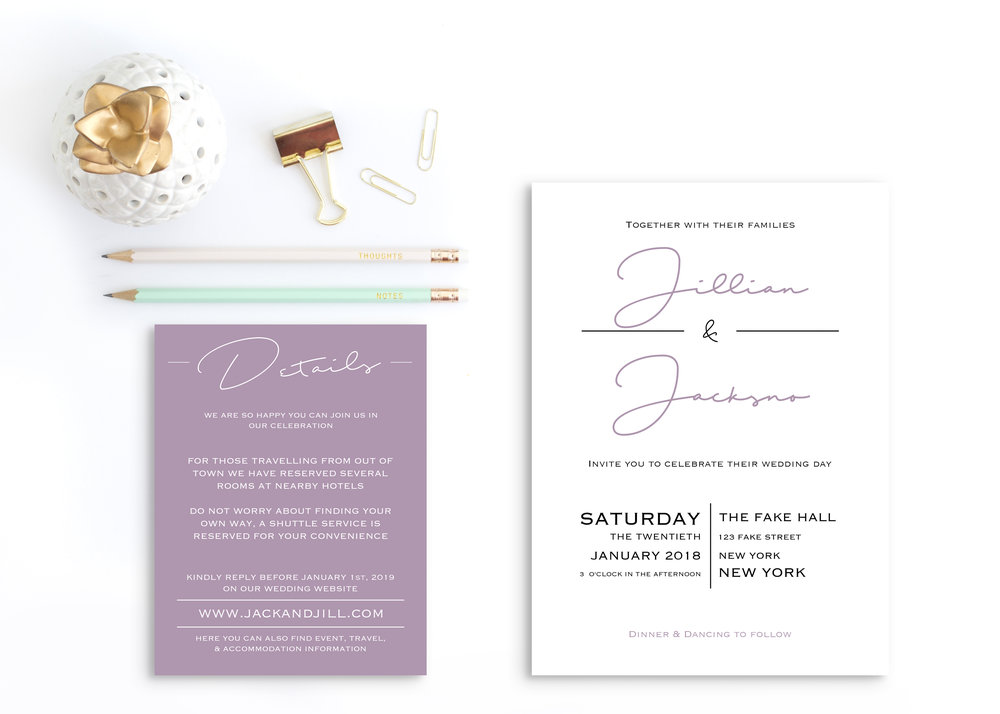 Summer Wedding Invitation Suite -
