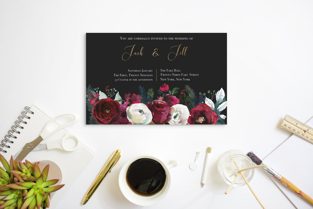 Winter Wedding Invitation -