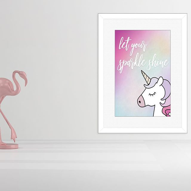 Let your sparkle shine! Never let it fade 🦄🦄 on Etsy- nljDesignStudio . . . . . . .  #wallartdecor #wallart #homedecor #bedroomart #goodmorning #nightstanddecor #digitalart #digitalprint #nljdesignstudio #etsy #etsymade #etsycanada #printyourself #bedroomgoals #bedroominterior #bedroomideas #bedroominspo #childsbedroom #teenbedroom #girlsbedroomdecor