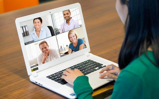 Cloud meeting with digital mentor