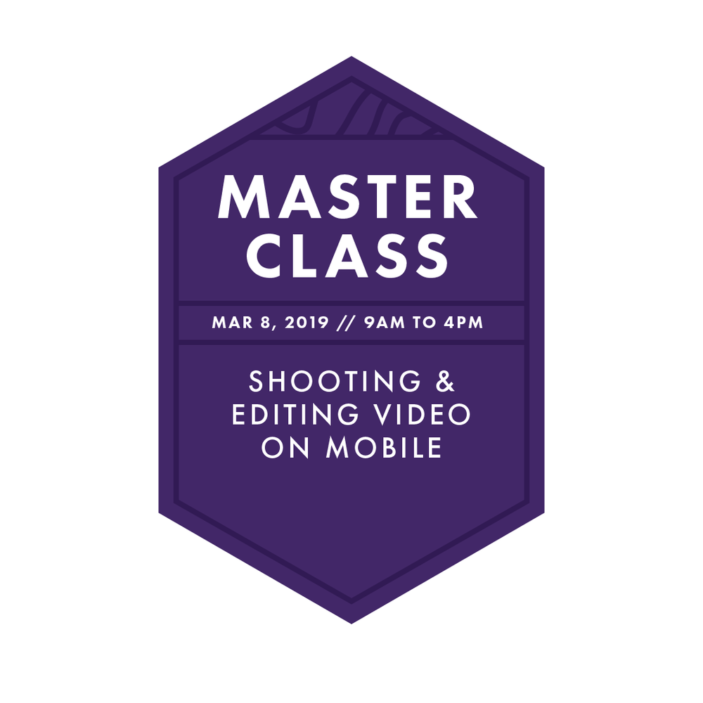 Master Class: Mobile Video - 6-hour master class // breakfast, LUNCH & snacks provided // MODERN MUSE MEDIAmaster classes are available exclusively to imedia attendees.
