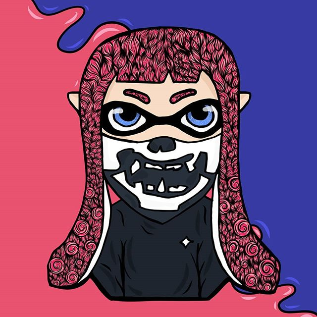 Another Splatoon character :) send me a DM if you'd like yours drawn too! . . . #splatoon2 #splatoon #fanart #nintendo #nintendoswitch #doodles #doodle #instadraw #digitalart #art #illustration #followforart #adobedraw #gamer #artoftheday #ink #artapproved #okamiink #drawing