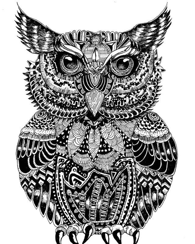 🦉Owl ¤ Repost. My second drawing after my first attempt on the wolf. . . . . . . #ink #inkpatterns #pattern #patterns #buho #owl #bird #doodleoftheday #doodle #doodles #sketch #drawing #draw #drawingoftheday #artoftheday #illustration #art #artist #blackandwhite #mandala #micron #instaart #instadraw #followforart #follow #artmagazine #dailyart #blackandwhite #okamiink #inked