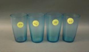 Fenton #215 Celeste Blue juice tumblers, 4 for $22.50