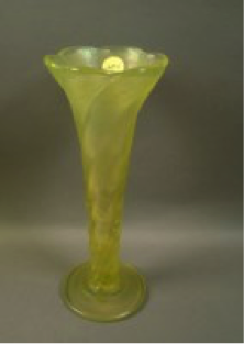 Northwood Topaz Twisted, flared vase $210