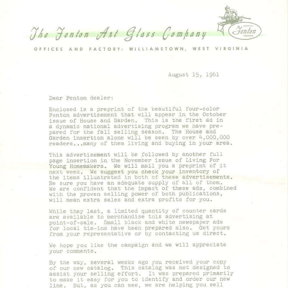 1961 House & Garden Ad Prev.