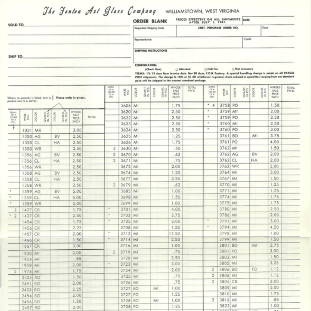 1961 July Price Guide White