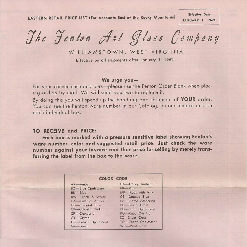 1962 July Price Guide (East) - PINK