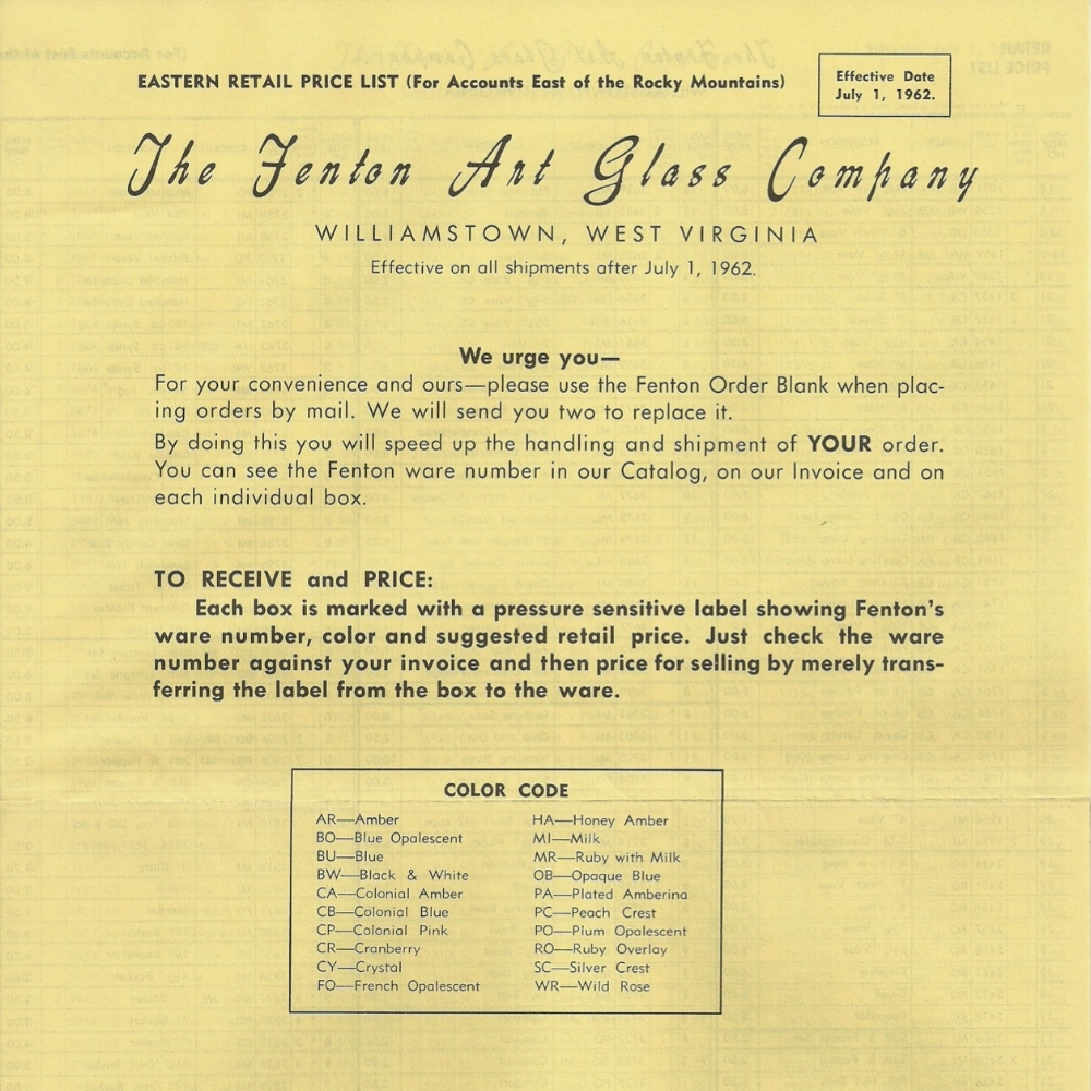 1962 July Price Guide